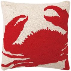 The Red Crab Hook Pillow by Phi is part of an eclectic collection of pillows and other textiles created by exciting designers in their studio, who focus on generating trend right and fashion forward products. These decorative home accessories are exceptional in both quality and value.    As seen in Coastal Living Magazine December 2014/January 2015 Issue. **refer to photo 2**