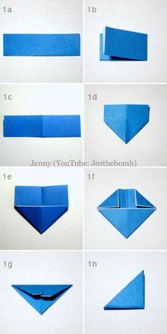 Origami | 3D Bird | Free Pattern & Tutorial at CraftPassion.com - Part 2