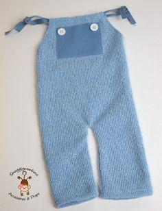 Blue Newborn Romper with Pockets Newborn by snugglywunkins
