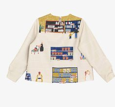 Back view, Supermarket print, Neverland collection by PurpleFishBowl2 on Etsy