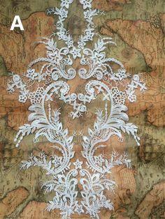 Lace Embroidery Motif, Floral Lace Motif Sewing Lace Applique Bridal lace Applique Patch Wedding Accessory Addition for Gown Vintage Bridal, Bridal Lace, Wedding Lace, Bridal Style, Motif Floral, Floral Lace, Lace Weddings, Wedding Dresses, Embroidery Motifs