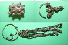 Elements of Slavic jewellery discovered in Czermno, Poland. 10th century.