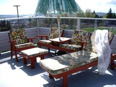 Vintage redwood style patio furniture The Wooded Knoll Pinterest