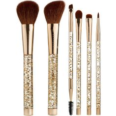 Sparkle Shine Brush Set SEPHORA COLLECTION (€52) ❤ liked on Polyvore featuring beauty products, makeup, makeup tools, makeup brushes, set of makeup brushes, set of brushes and sephora collection