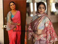 bell sleeve saree blouse