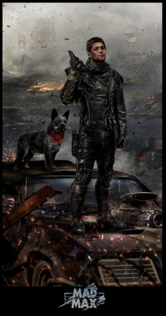 Mad Max by John Gallagher - Dean Winchester as Mad Max. Never would have imagined but like the idea! \m/