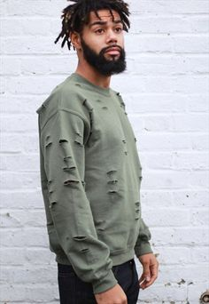 RESTOCK-Distressed+Camo+Green+Sweatshirt