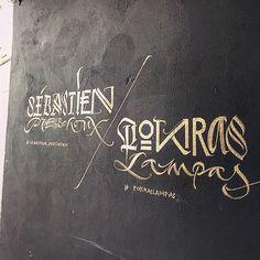 POKRAS LAMPAS - Calligraphy signs. ✌️ @sebastien_preschoux