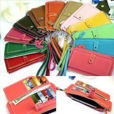 Fashion Woman Lady Faux Leather Bifold Card Holder Clutch Bag Wallet Purse LDF-8