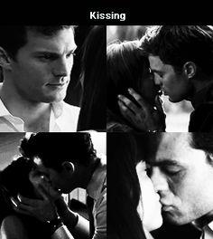 Jamie Dornan and Dakota Johnson Fifty shades of grey movie Kisses