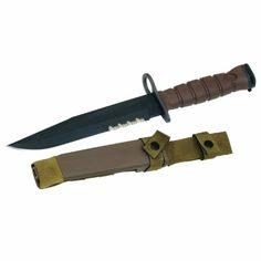 Black Friday 2014 Ontario 6504 OKC3S Marine Bayonet (Brown) from Ontario Knife Cyber Monday