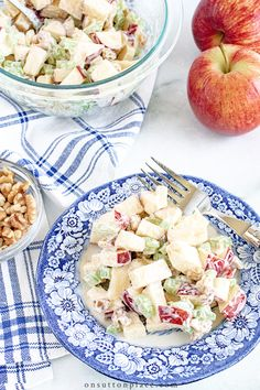 Fresh and easy Honeycrisp apple salad recipe that can be made in a just a few minutes. The perfect side dish for any lunch or dinner!