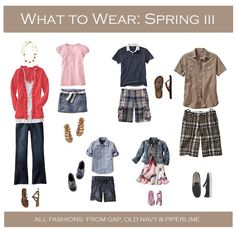 Very nice combo for spring family portrait outfits. pop of color could coordinate with whatever is in bloom Family Portrait Outfits, Family Picture Outfits, Family Portraits, Spring Family Pictures, Family Pics, Spring Photos, Clothing Photography, Photography Guide, Photography Outfits