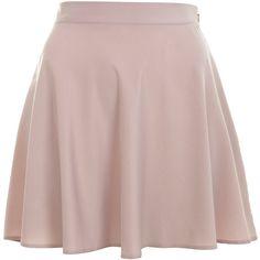 Mink Skater Skirt ($26) ❤ liked on Polyvore