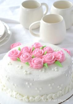 Cake Decorating: Part 3 - Mother Thyme Buttercream Cake, Fondant Cakes, Cupcake Cakes, Cupcakes, Pretty Cakes, Beautiful Cakes, Amazing Cakes, Wilton Cake Decorating, Cookie Decorating