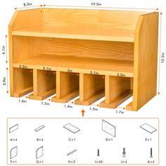 Tool Wall Storage, Power Tool Storage, Diy Garage Storage, Wood Shop Projects, Woodworking Projects Diy, Woodworking Shop, Woodworking Plans, Woodworking Tool Storage Ideas, Woodworking Basics