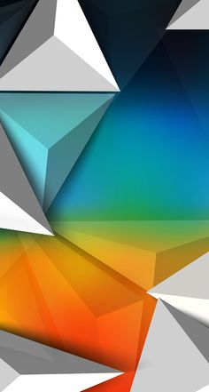 orange green blue . abstract