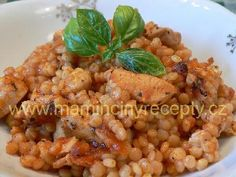 Rajská tarhoňa s masem Risotto, Beans, Vegetables, Ethnic Recipes, Food, Bulgur, Meal, Beans Recipes, Eten