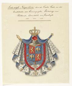 Wapencompositie van Lodewijk Napoleon Bonaparte, anoniem, 1807    Rijksmuseum