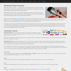 Alle Mobiele Telefoon Providers - Overzicht met aanbieders, snelheden, 2G/3G/4G | Onafhankelijk & Objectief