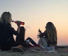 drunk on the beach