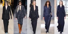 What's this? A trend anyone could wear? Yes! Cool pinstripes (as opposed to your dad's boring suits-type of pinstripes) lengthen and slim every body type. As seen at Max Mara, Trussardi, Calvin Klein, Tibi, and Sies Marjan