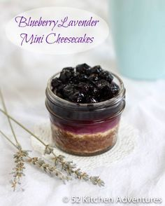 Blueberry Lavender Mini Cheesecakes