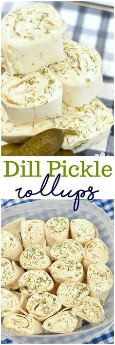 Dill Pickle Rollups easy recipe appetizer party food no bake Christmas Pickles Cream Cheese