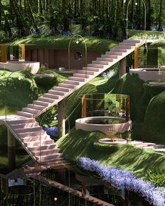 Likes, 73 Comments - Paul Milinski Futuristic Architecture, Amazing Architecture, Architecture Details, Landscape Architecture, Interior Architecture, Architecture Collage, Retro Futuristic, Chinese Architecture, Architecture Portfolio