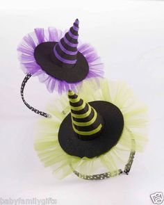 Mud Pie Halloween Big Girl Witch Hat Headband: Orange, Purple, or Green $9.99 Sold at Baby Family Gifts Ebay