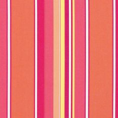 Fabric By The Yard Sunbrella Indoor Outdoor Dolce Mango Stripe Red