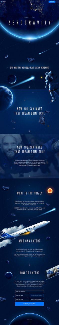 Zero Gravity website via Serge Vasil's Behance portfolio