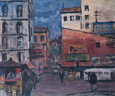 Alceu Ribeiro, paisaje urbano, óleo 50 x 60 Painting, Art, Urban Landscape, Scenery, Art Background, Painting Art, Kunst, Paintings, Performing Arts