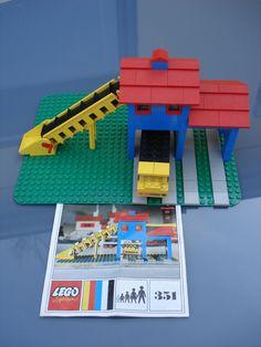 Lego Bausatz 351 Kieswerk Set aus den 70er Jahren mit OBA