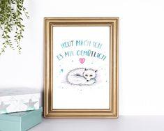 Arctic Fox, Illustration, Ink, Etsy, Frame, Animals, Home Decor, Paper, Art Print