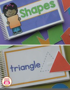 Shape matching interactive book.  Kids attach the matching shape to each page of the book.  The pages can be bound into a book or used separately on a magnetic board or cookie sheet.  The pages can also be used for tracing the shapes.  Perfect for preschool, pre-k, toddlers, tot school.