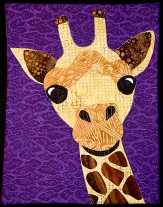 tommyandjimmy - giraffe art quilt!  need to ask Ted to draw this for me