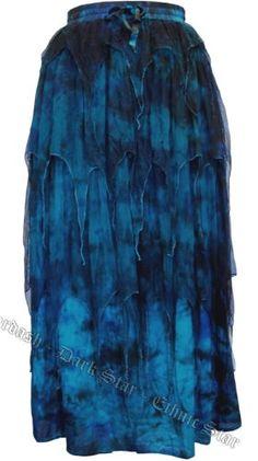 2ffb2e0e06076 Dark Star Triple Layer Pointed Tie Dye Net Skirt with Elasticated Waist