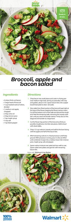 The best way to get the kids to eat their broccoli? Serve a salad with bacon. P.S. - it's hearty and works well as a main course, too!