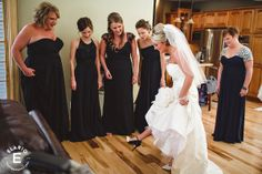 Blog - Elario Photography - Lauren & her maids - showing off her fun shoes!