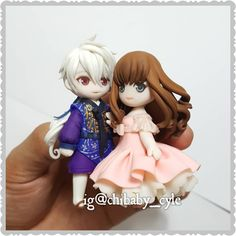 "455 Likes, 21 Comments - Chibaby Polymer Clay (@chibaby_cyle) on Instagram: ""An update for my work. From Mystic Messenger #cute #clay #craft #peach #november #couple #polymer…"""