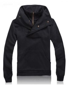 Mens Fashion Slim Cotton Black