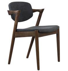 Replica Kai Kristiansen 'Kai' Dining Chair - Fabric by Kai Kristiansen - Matt Blatt