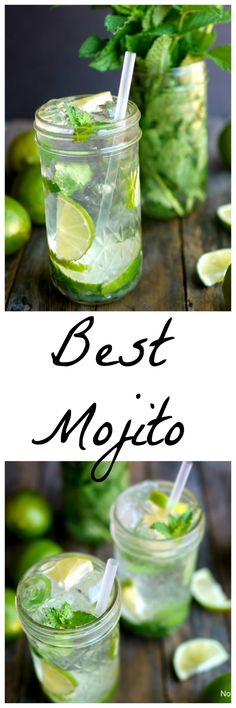 After extensive recipe testing THIS is The Best Mojito from NoblePig.com.