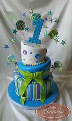 Торт на годик для мальчика - Кондитерская мастерская Комарист: фото, цена, купить, доставка