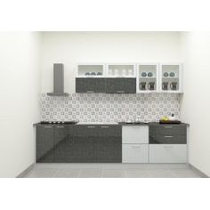Get Home This Sleek, Structured Straight Kitchen. Made Up Of Plywood With  Laminate Finish