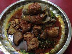 Amala + Ewedu + Gbegiri + Assorted meat #nigerianfood #nigerianfoodrecipe #africanfood #nigeria #amala #abula