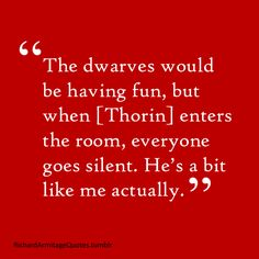 Now I can't wait for the gag reel for the Hobbit. It's going to be funny, considering that the dwarves have a lot of fun and Aidan and Dean joked around in almost every scene they were in. So did Martin but it's going to be funny no doubt about it.