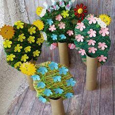 kids crafts summertime Crafts and games for children, Spring Crafts For Kids, Diy For Kids, Toilet Paper Roll Crafts, Paper Crafts, Easy Crafts, Diy And Crafts, Box Creative, Toddler Crafts, Children Crafts