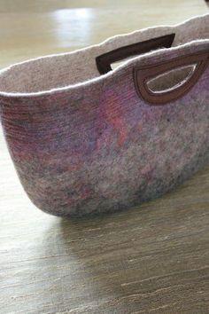 Hand made felt stitch bag - winter Choose Shop